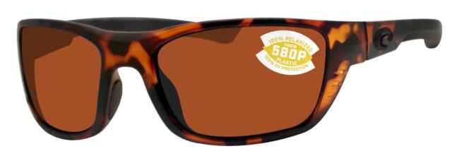 9086c16f3db43 Costa Del Mar Whitetip WTP 66 Matte Retro Tort Sunglasses Brown 580p ...