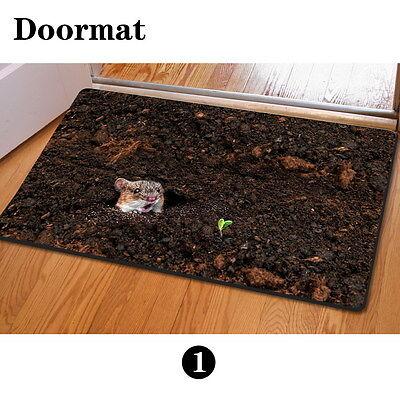 Non-slip Rubber Doormat Home Garden Bedroom Funny Rugs Bath Mat Carpets Outdoor