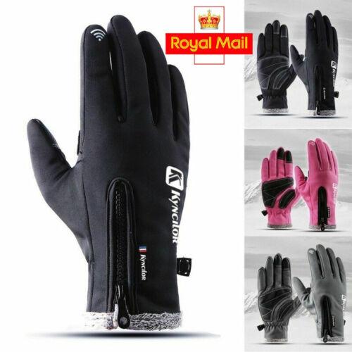 UK Winter Windproof Waterproof Anti-slip Thermal Touch Screen Gloves Ladies Mens