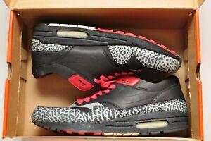Nike-Air-Max-1-NL-Premium-No-Liner-Black-Varsity-Red-Sz-10-5-313227-001