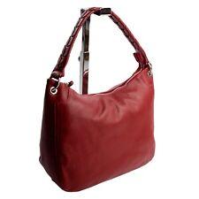 Ital Citybag Schultertasche Shopper Hobo Bag Ledertasche Weinrot echt Leder 620R