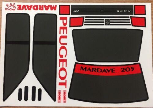 Mardave Peugeot 205 Sticker Set