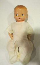 """Vintage 11"""" marked Irwin celluloid baby doll-open mouth -  EC"""