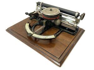 Rare PEOPLES INDEX TYPEWRITER Schreibmaschine Antique Vtg Machine a Ecrire 打字机