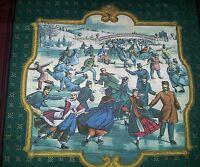2 Pc Thomas Kinkade Christmas Winter Ice Skating Accent Pillow Sham Cover 14