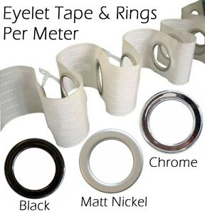 Curtain Eyelet Tape And Snap On Clip On Eyelets Easy