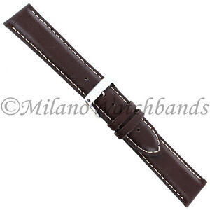 20mm-Speidel-Bounty-Brown-Contrast-Stitched-Genuine-Leather-Mens-Band-552-730