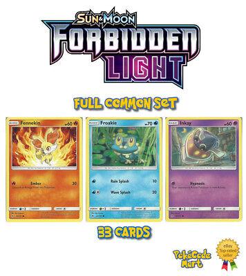 Complete SUN /& MOON Base Set 69 Common//Uncommon Character Pokemon Cards Set