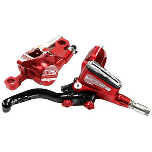 Brand New Hope Tech 3 E4 Red Left Front with Black Hose Brake