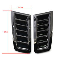 Car Hood Vent Louver Scoop Cover Air Flow Intakegloss Universal Fits More Than One Vehicle