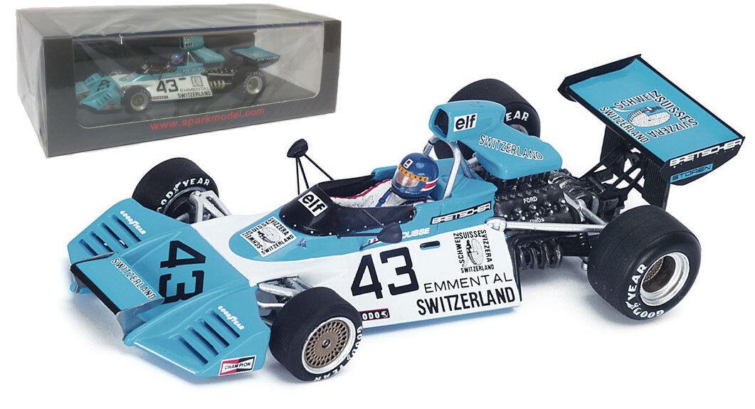 SPARK S4783 1 43 Brabham BT42  43 GP de Belgique 1974-GERARD LARROUSSE échelle 1 43