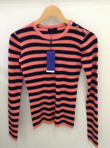 Peach navy Rrp Top £119 Striped Size Day Jessie Xs 2nd Georgia TZ8qz0CwWx