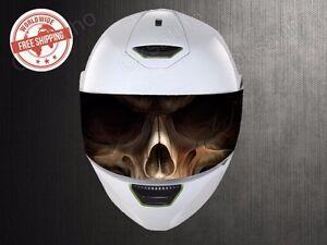 Skull Visor Helmet Universal Perforated Decals Stickers