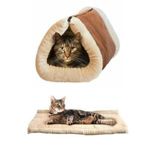 Pet-Cat-Dog-Mat-Sleeping-Bed-Warm-Nest-Kennel-Super-Soft-Pad-House-Puppy-Cave