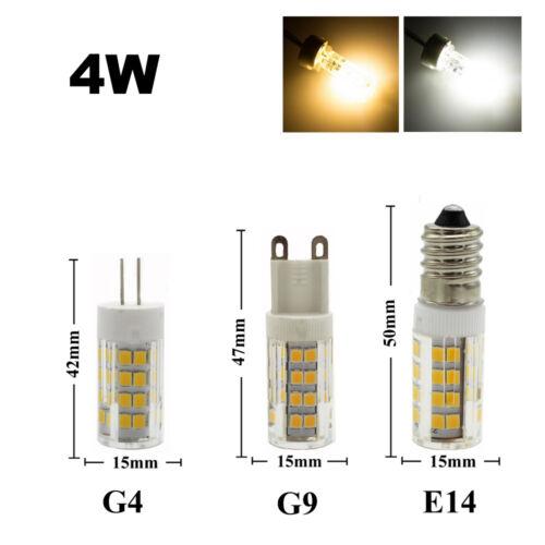 3W 4W 5W 7W LED Leuchtmittel G4 G9 E14 Stiftsockel lampe Warmweiß//Kaltweiß