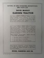 David Bradley Sears 9175752 Garden Tractor Amp Plow Owners Amp Parts 2 Manuals