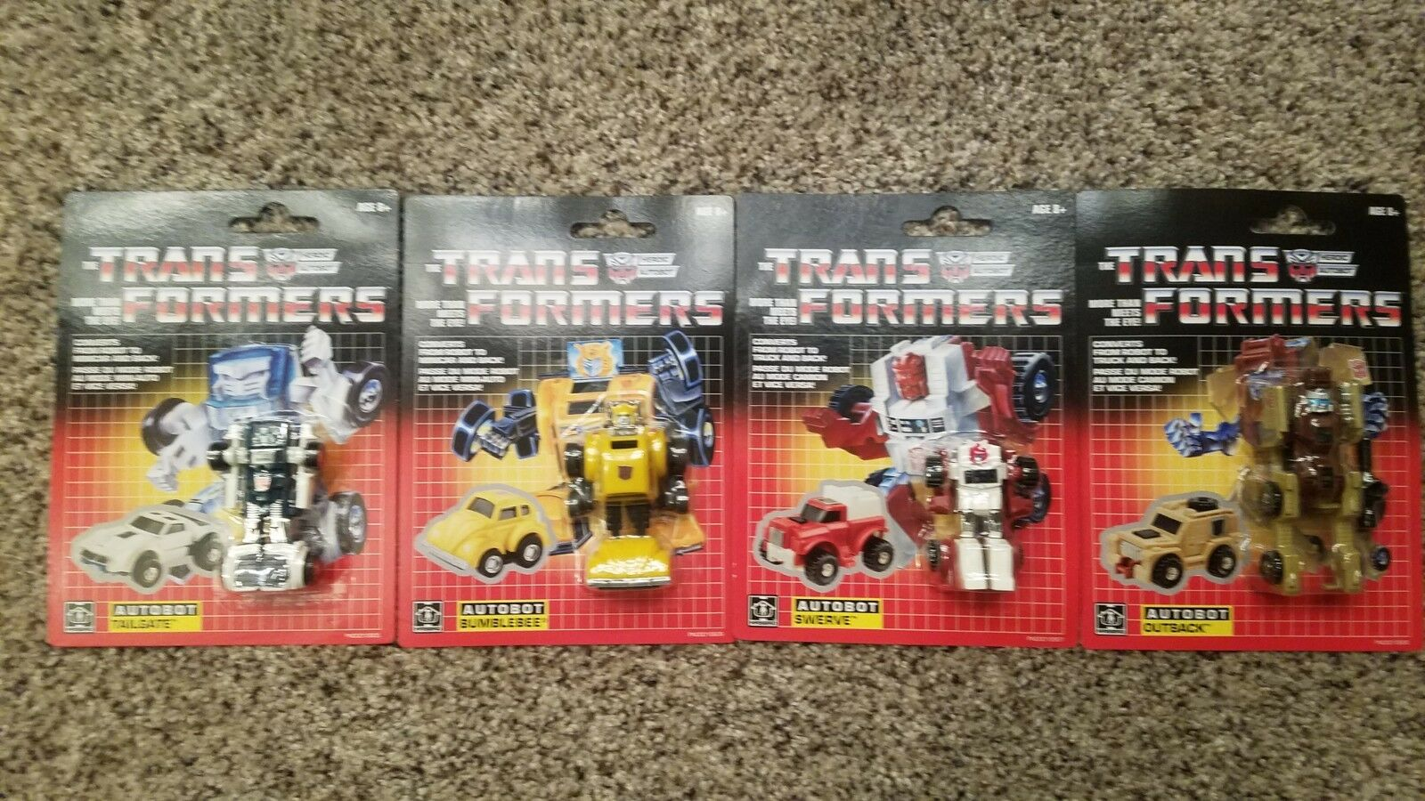 G1 Transformers Reiisues Lot of 4 Minibots MOSC (2018)