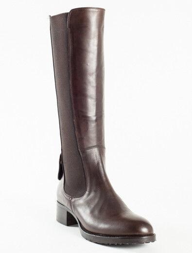 Nuevas botas De Cuero Marrón Femme Talla 38 EE. EE. EE. UU. 8  tienda en linea