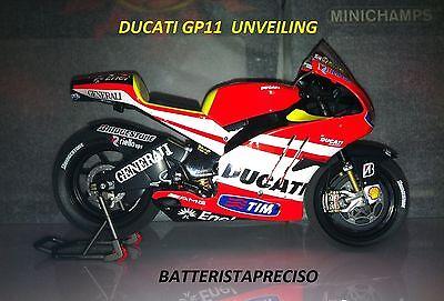 Valentino Rossi Standing Figure Ducati Unveiling MotoGP 2011 1:12 Model