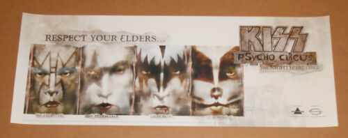 Kiss Psycho Circus The Nightmare Child Respect Your Elders 2000 Poster 29x11