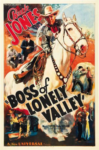 Buck Jones Cult Western movie poster print Boss of Lonely Valley 1937