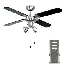 Encon ceiling fan with integral lights ebay modern ceiling fan with light 4 blade spotlight brushed chrome black lighting aloadofball Choice Image