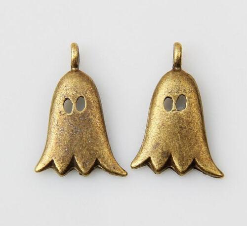 wholesale 60pcs//200pcs bronze plated ghost pendants 20x13mm 1A1459