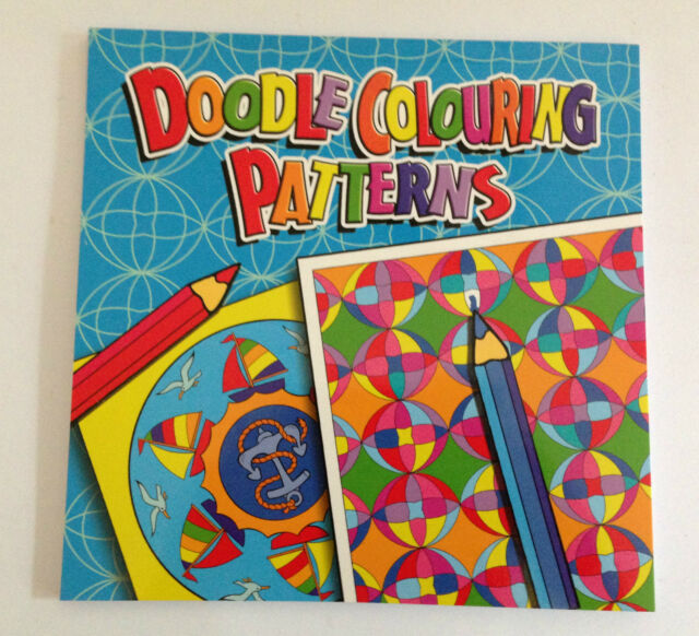 DOODLE BOOK PAD COLOURING BOOK PATTERNS - Adult Child