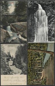 Milford-PA-Lot-of-Four-c-1906-1910s-Postcards-UPPER-GLEN-FALLS