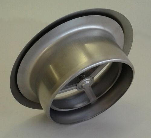 Cheminée Soupape Ventilation Vanne soupape Assiette en Acier Inoxydable Avec Installation Cadre DN 125