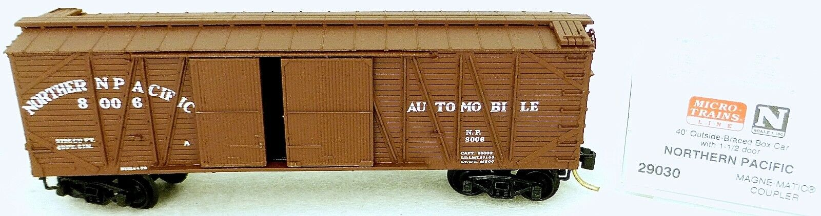 40´ outside Br Boxcar Northern Pacific 8006 Micro Trains Line 29030 N 1 160 C Å