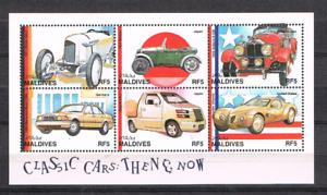 Malediven-1997-Satz-2823-28-KLB-Klassische-Automobile-postfrisch