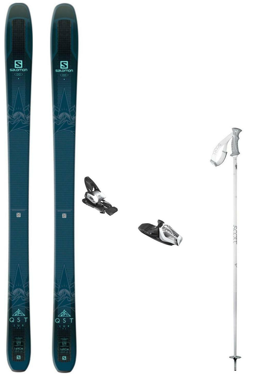 NEW Salomon QST 92 Lux ladies snow skis 169 cm w-bind (+ POLES at BuyItNow) 2019