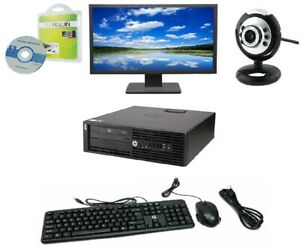 "HP Z210 Workstation SFF Intel i5-2400 8GB 128GB SSD Window 10 Pro Webcam 22"" LCD"