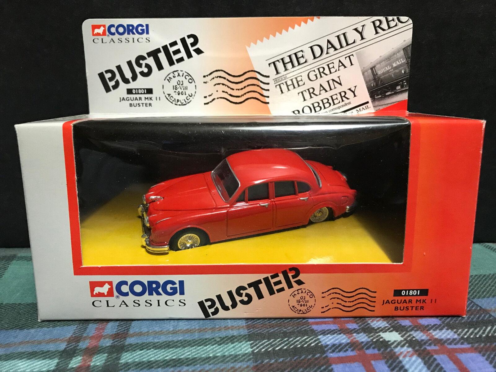 Rare Corgi 01801 - Buster Red Jaguar Mk II