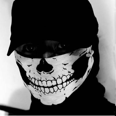 Ghost Skull Skeleton Neck Face Mask Bike Balaclava Call of Duty COD Costume Game