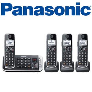 Panasonic-KX-TGE674B-DECT-6-0-Expandable-Cordless-Phone-Digital-Answering