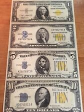 Copy Reproduction 1934 Africa Uncut US Currency Sheet Paper Money WWII 1-2-5-10