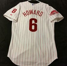 Authentic Majestic SIZE 44 LARGE, PHILADELPHIA PHILLIES RYAN HOWARD Jersey
