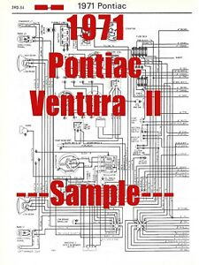 1971 Pontiac Ventura Ll Full Car Wiring Diagram High Quality Printed Diagram Ebay