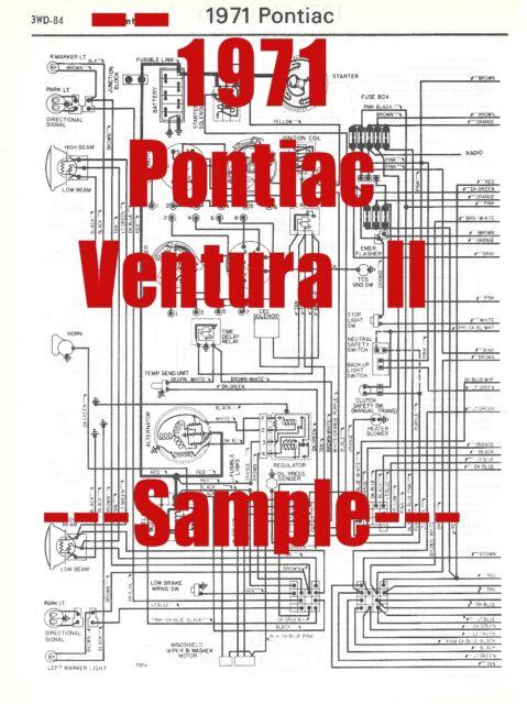 1971 Pontiac Ventura Ll Full Car Wiring Diagram  High