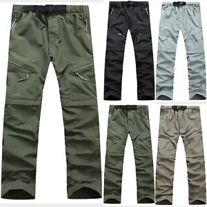 a316e91453 Men's Quick Dry Outdoor Hiking Pants Waterproof Casual Trousers ...