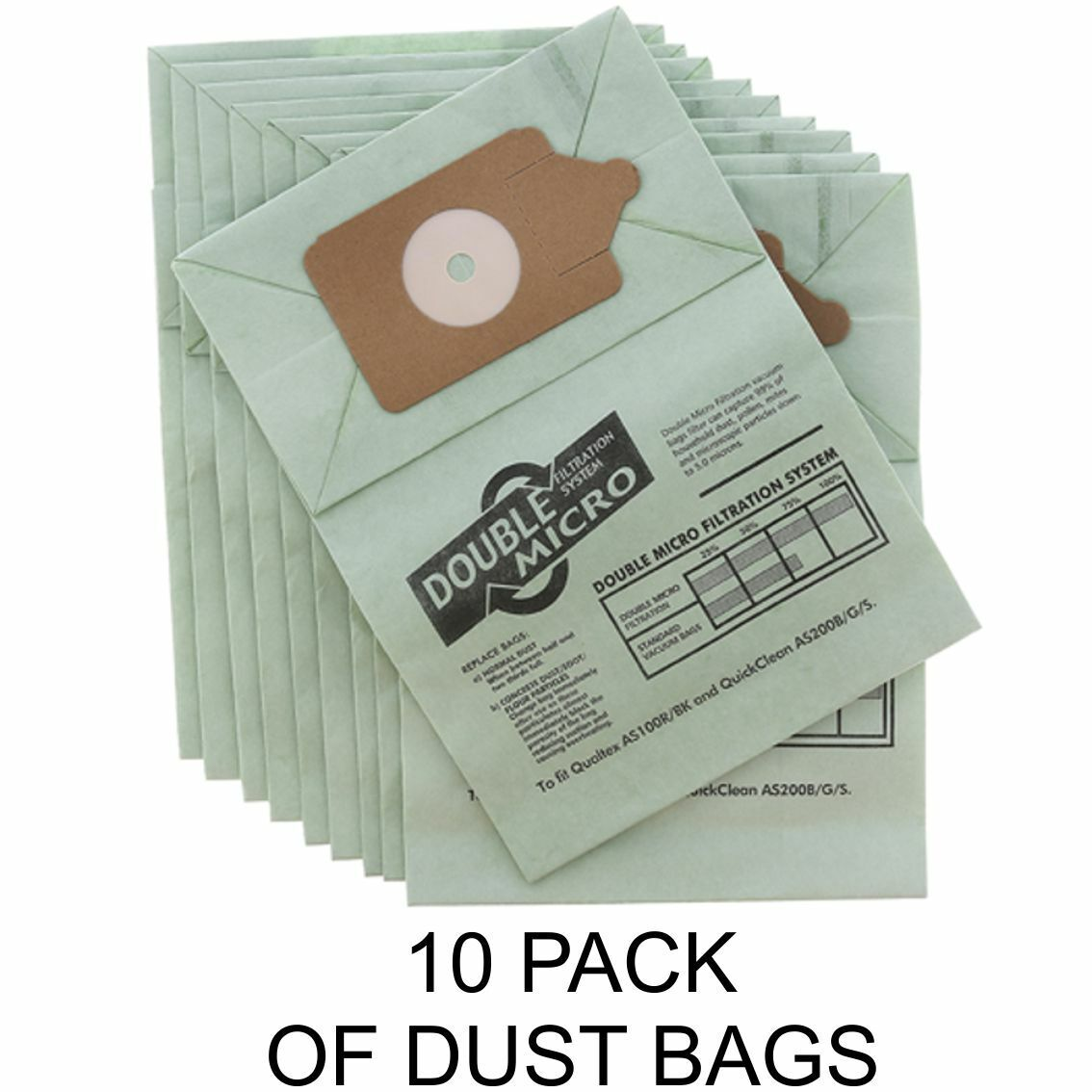 10 x NUMATIC PSP-200A hoover Vacuum Cleaner Double Layer Filtration Dust Bags
