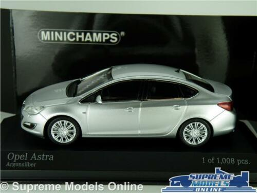 OPEL VAUXHALL ASTRA coche modelo escala 1:43 Plata Minichamps 410 042000 MK6 K8