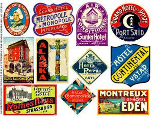 travel tag souvernir Vintage suitcase sticker luggage label