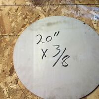 """316 stainless steel plate 20"""" circles rounds 1 pcs 3/8"""" thick  316 sst"""