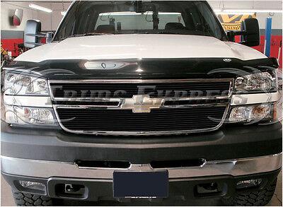 2005-2006 Chevy Silverado 2500/3500/HD Black Billet Grille-Upper 2Pcs