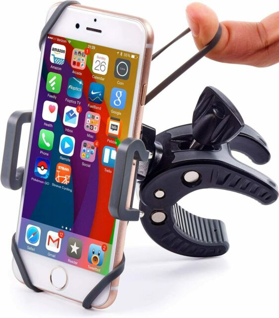 Bike & Motorcycle Phone Mount-Universal ATV, Mountain & Road Bicycle Handlebar