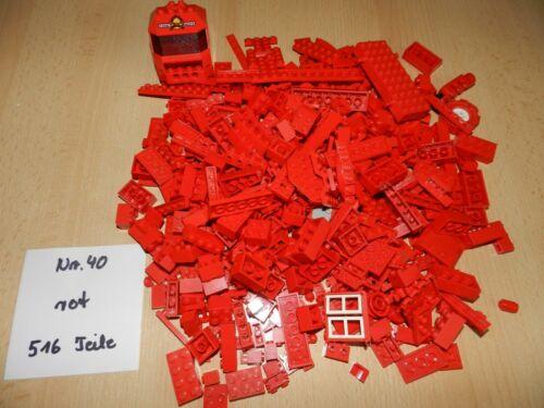 Lego,Lego Steine 40 0,5 kg Nr 516 Teile rot,sortiert,verschiedene Grössen