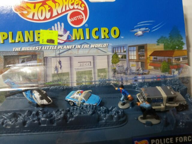 1997 Mattel Hot Wheels Planet Micro Police Force Series 1 Police Cruiser